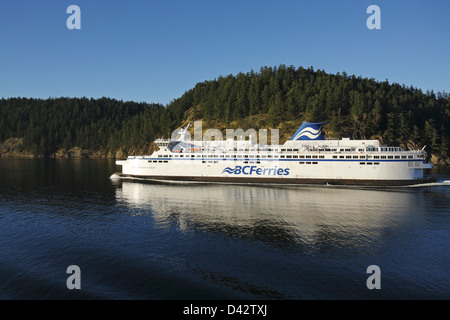 Vancouver to Nanaimo route, British Columbia Ferry, Canada - Stock Image