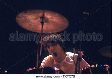 Keith Moon, The Who. Credit: 385965_Globe Photos/MediaPunch - Stock Image