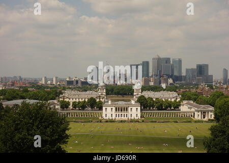 View From Royal Observatory, Greenwich, London, UK - Stock Image