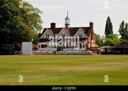 Cricket pavilion, The University Parks, Oxford, Oxfordshire - Stock Image