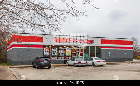 HICKORY, NC, USA-2/17/19: An Auto Zone store, one of over 6000 stores in US, Mexico and Brazil. - Stock Image
