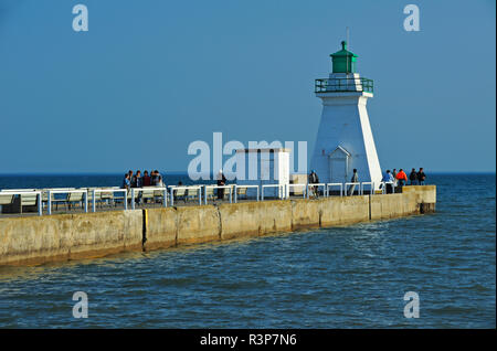 Canada, Ontario, Port Dover. Lighthouse on Lake Erie. - Stock Image