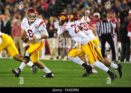 December 19, 2015. Quarterback Cody Kessler #6 of USC in action during the 2015 National Education Holiday Bowl - Stock Image
