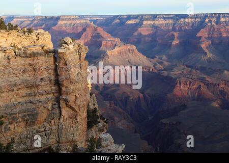 Grand Canyon, Arizona, USA as seen from the South Rim (at Grand Canyon Village) - Stock Image