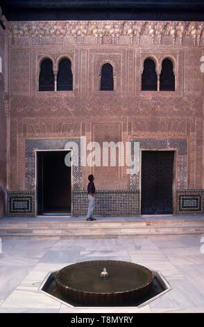 Patio Mexaur, Alcazar, Granada, Andalucia, Spain, Europe - Stock Image