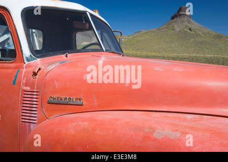 Route 66, Chevy Truck, Arizona, USA - Stock Image