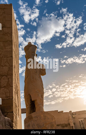 Karnak Temple entrance, Peristyle Court. Luxor, Egypt - Stock Image