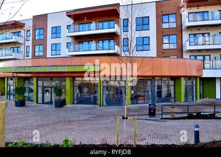 Stoke Gifford Retirement Village building in Bristol, England - Stock Image