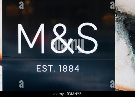 M&S Sign Marks and Spencer - Stock Image