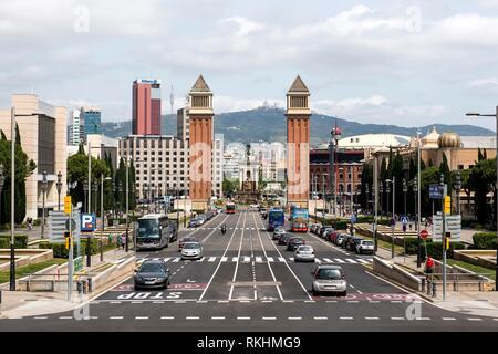 Placa d´Espanya, Barcelona, Catalonia, Spain - Stock Image
