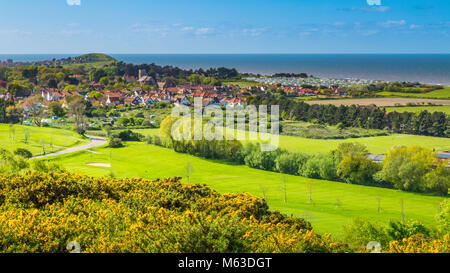 View across West Runton, near Cromer on the Norfolk coast. - Stock Image