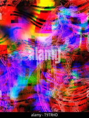 DIGITAL ART: Magical Mystery Tour - Stock Image