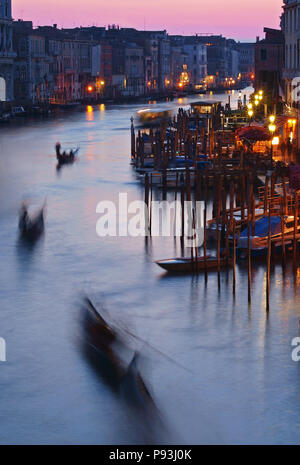 Evening Canal Grande in Venice - Stock Image