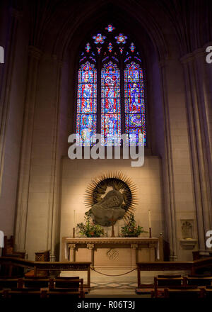 Relief sculpture of Jesus Christ in Washington National Cathedral - Washington, DC USA - Stock Image