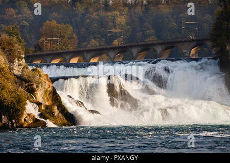 Rhine Falls, Neuhausen am Rheinfall, Switzerland - Stock Image