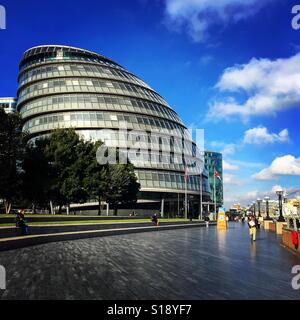 London on the banks of the Thames - Stock Image