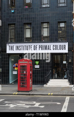 The Institute of Primal Colour, a two day immersive experience involving chromatic experiments. - Stock Image
