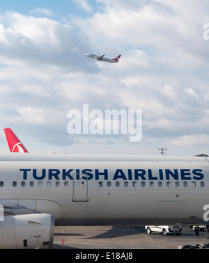 Turkish Airlines jet - Stock Image