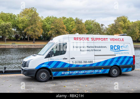 Rescue Support Vehicle, River Trent, Nottinghamshire, England, UK - Stock Image