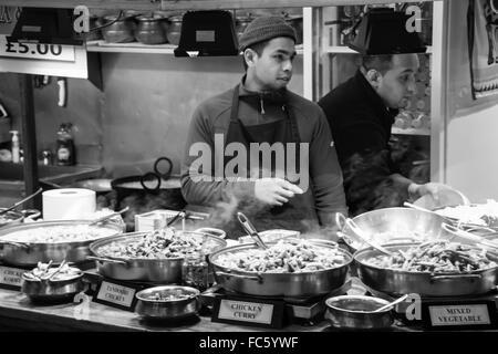 Chef in Camden Market - Stock Image