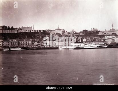 Quebec From The River, ca 1880, by William Notman - Stock Image