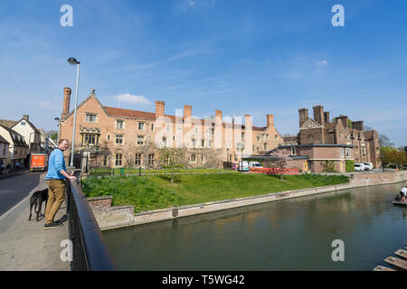 River Cam passing Magdalene College Cambridge 2019 - Stock Image