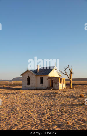 Abandoned and disused Railway Station based in Luderitz within the Diamond Region, Namibia, Africa - Stock Image