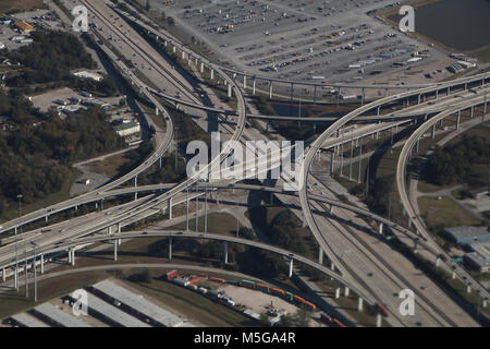 calfornia interstate highway interchange - Stock Image