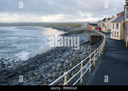 Seafront at Lahinch in County Clare in Ireland - Stock Image
