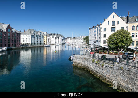 View of Alesund, Norway. - Stock Image