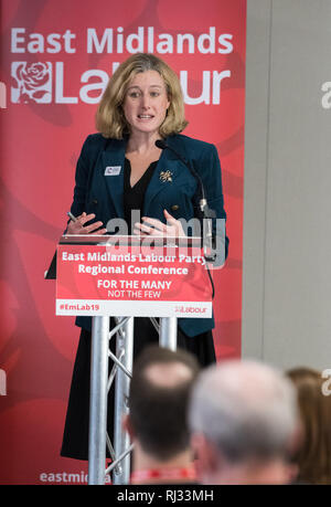 Ruth George, Labour MP for High Peak speaking at the East Midland Labour Party 2019 conference in Nottingham, UK. - Stock Image