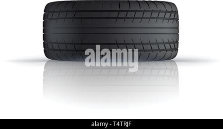 lying car tire - Stock Image