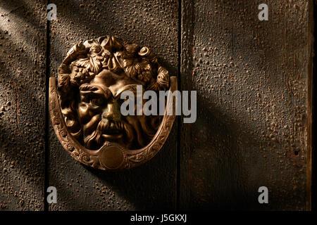 Ornate Brass Door Knocker - Stock Image