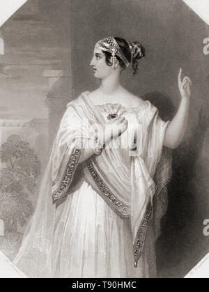 Portia.  Principal female character from Shakespeare's play Julius Caesar.  From Shakespeare Gallery, published c.1840. - Stock Image