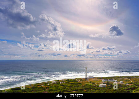 South Africa landscape, beacon on the Cape of Good Hope, famous touristic place, beautiful panorama of Atlantic - Stock Image