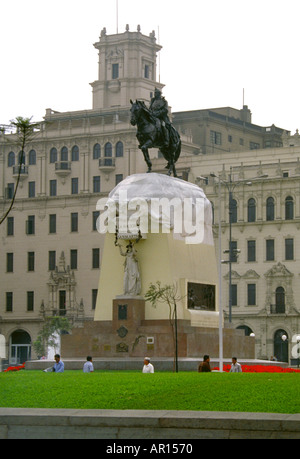 Plaza de Armas, Lima, Peru - Stock Image