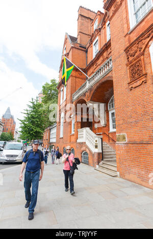 Jamaican High Commission, 1-2 Prince Consort Rd, Kensington, London, England, United Kingdom. - Stock Image