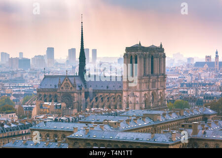 Aerial view of Paris, France - Stock Image