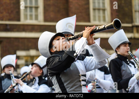 America's The Pride of Bixby High School Marching Band, from Oklahoma, USA, at London's New Year's Day Parade, UK - Stock Image