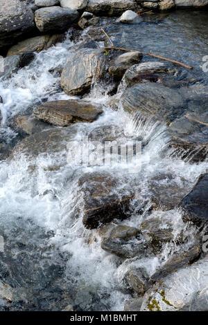 Franz Josef Glacier Walk – river - Stock Image