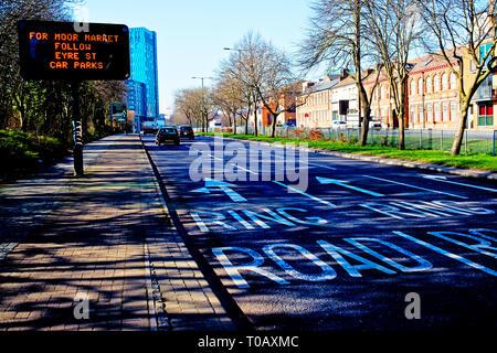 Sheffield,St Marys Road,  England - Stock Image