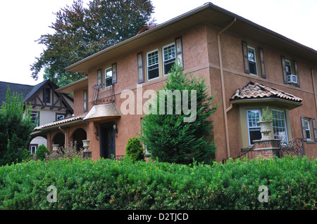 Stucco house - Stock Image