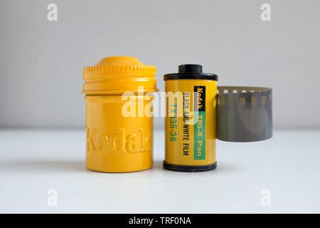 Vintage Kodak Tri X Photographic Film - Stock Image