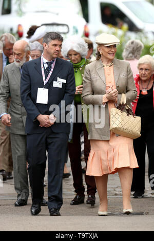 Princess Michael of Kent (front, right) and her husband Prince Michael of Kent (left) arrive at the RHS Chelsea Flower Show at the Royal Hospital Chelsea, London. - Stock Image
