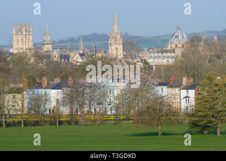 The dreaming spires of Oxford from South Park - Stock Image