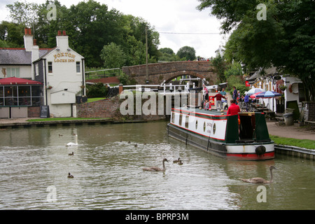 Foxton Locks and Inn, Leicestershire, UK. - Stock Image