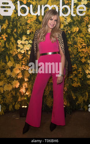 Celebrities attend social and dating app, Bumble, Domino Effect Valentine's Day party  Featuring: Victoria Brown Where: London, United Kingdom When: 14 Feb 2019 Credit: Phil Lewis/WENN.com - Stock Image