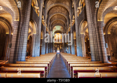MONACO - SEPTEMBER 26, 2018: Saint Nicholas Monaco Cathedral or Cathedral of Our Lady Immaculate is the Roman Catholic cathedral in Monaco - Stock Image