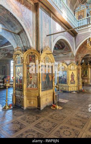 Cathedral church interior, Palekh, Ivanovo region, Russia - Stock Image