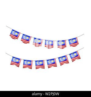 Malaysia flag, vector illustration on a white background. - Stock Image